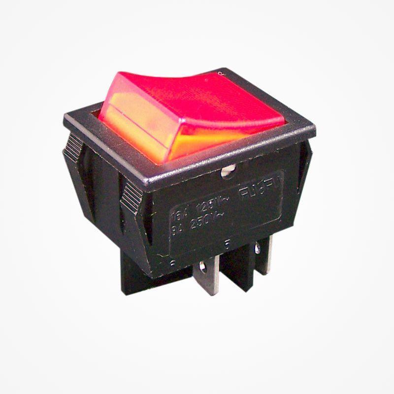 luminoso rojo Interruptor doble tecla