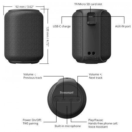 Análisis altavoz Tronsmart Element T6 Mini